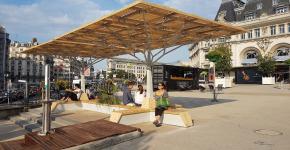 L'Ilot Frais rend l'espace urbain plus confortable pour parisiens et voyageurs