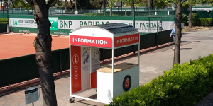 Armor: solar energy for spectators at Roland Garros