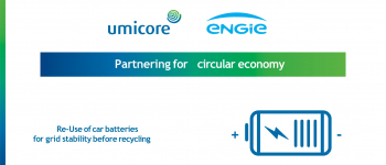Energy storage with second life batteries by ENGIE and Umicore