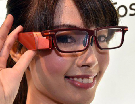 Toshiba presents its connected glasses