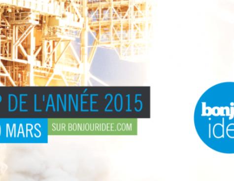 Bonjour Idée lance le concours Startup de l'année 2015 en partenariat avec GDF SUEZ