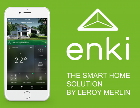 Enki, la solution de maison connectée par Leroy Merlin