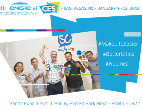 Simply City, the app that simplifies the city, at CES 2018 with ENGIE