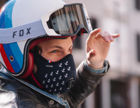 R-PUR: a mask that protects motorcycle and scooter drivers from air pollution