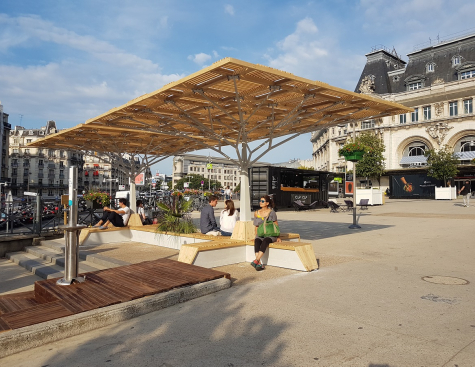 The Cooling Island makes urban space more comfortable for Parisians and travelers