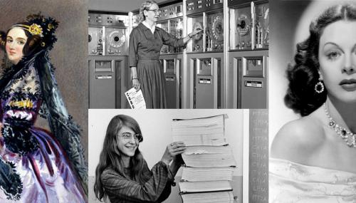 Portraits of 4 pioneer women in the field of IT
