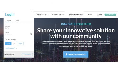 Startups: update your profile and your innovative solutions on ENGIE Innovation