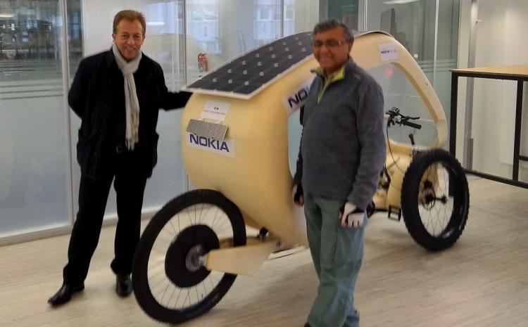 CES 2019 : Solar Connected Bike, une solution de co-mobilité pour des transports plus verts