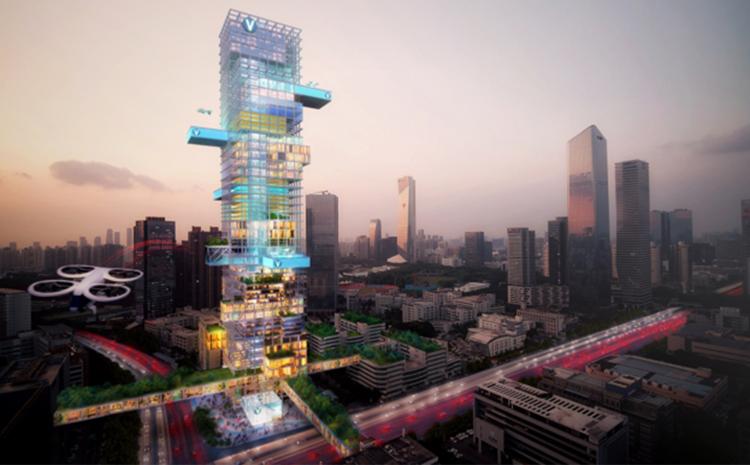 Les « Vertiports », futur de la mobilité aérienne urbaine