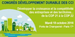 Congrès Développement Durable des CCI