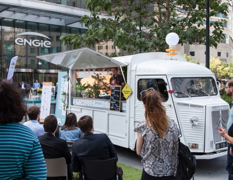 The 2018 Fundtruck stops at ENGIE in Paris