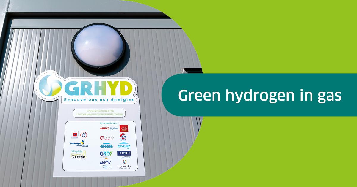 De l'hydrogène renouvelable dans le gaz: