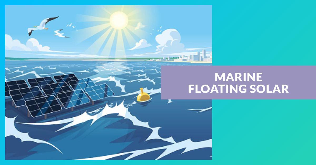 Solaire Flottant En Mer