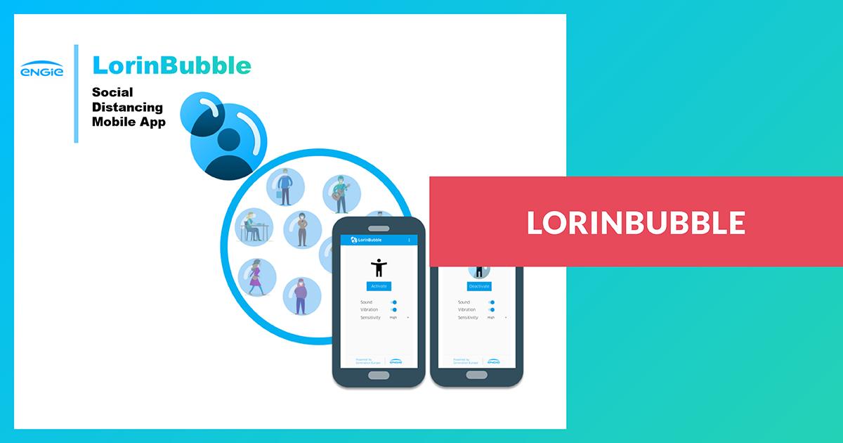 LorinBubble: application mobile de distanciation sociale