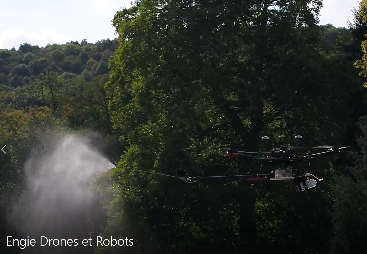 DRONES FOR CLEANING HV ELECTRICAL INSULATORS