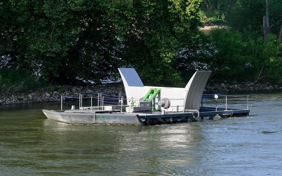 La plus grande ferme d'Hydroliennes fluviales au monde