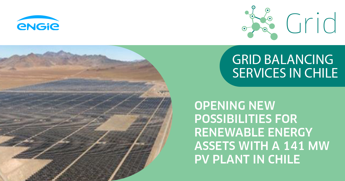 Grid Balancing Services with a 141 MW PV Plant in Chile