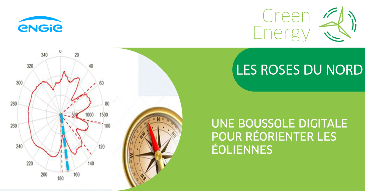 Roses du Nord A digital compass to redirect wind turbines