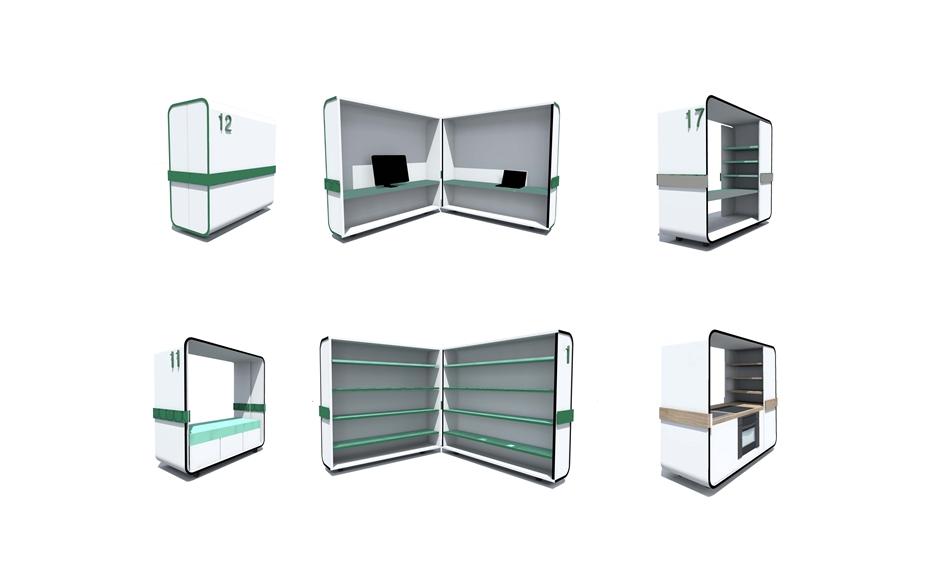 Cr ation de mobilier valise innovant pour l am nagement d for Meuble urbain